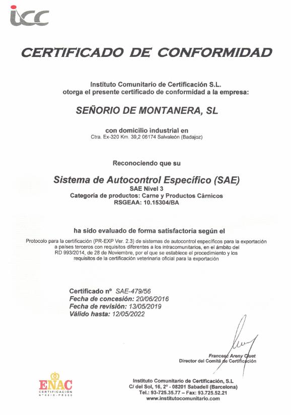 CERTIFICADO-SAE-SEÑORIO-MONTANERA