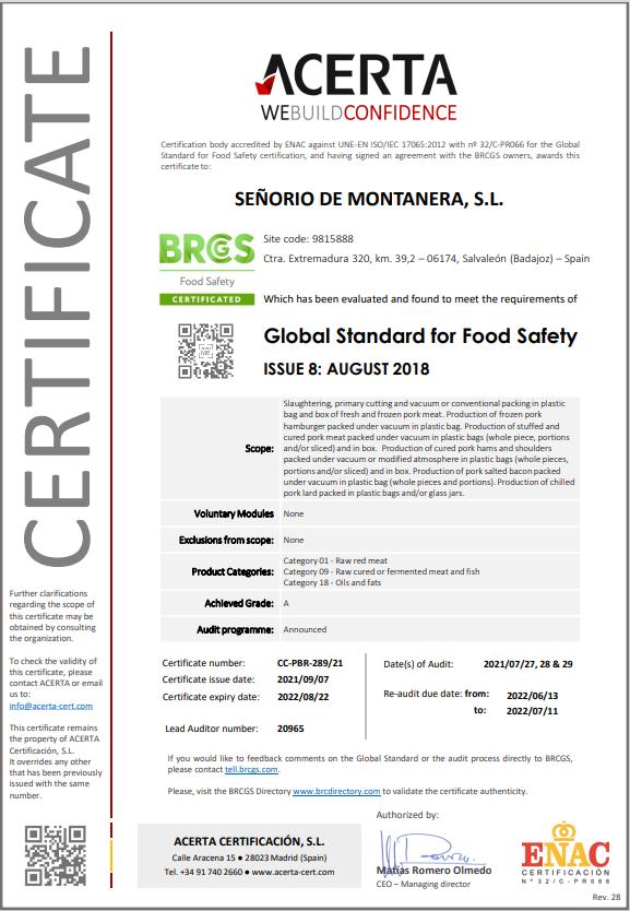certificado BRC senorio de montanera_2021