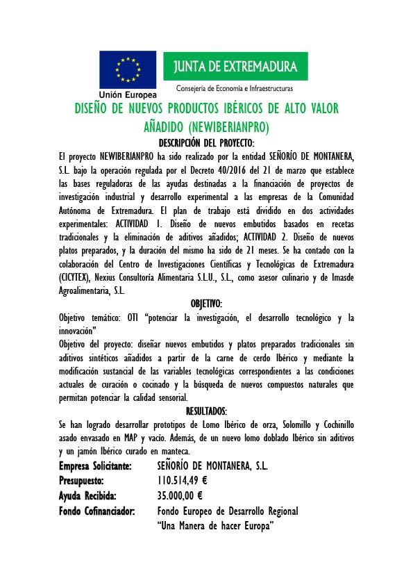 Diseño de productos ibericos de alto valor newiberianpro certificacion innovacion y desarrollo