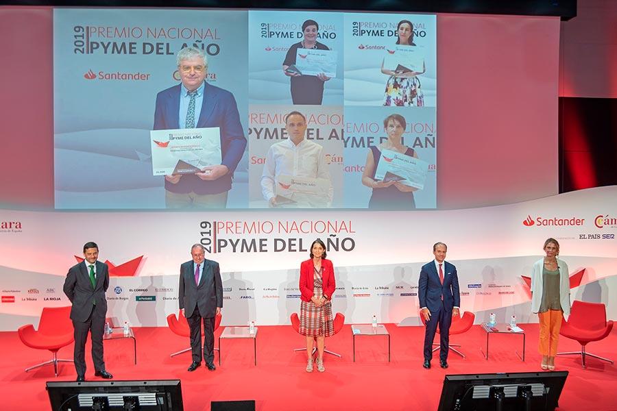 Recogida del premio Pyme del año 2019